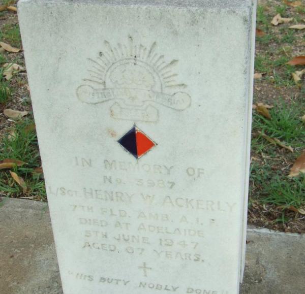 Photo of Henry Wharton Ackerley's grave