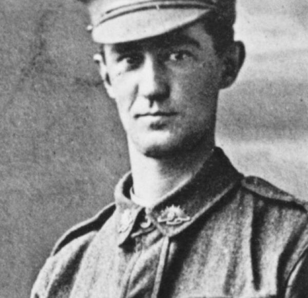 Studio portrait of 67 Private (Pte) Raymond Hadden Choat, 32nd Battalion. Source: https://www.awm.gov.au/collection/P09291.188