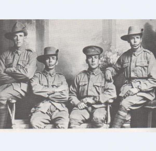 Four enlisted Potter brothers - probably L-R Hurtle, Thomas, Ralph, Edward